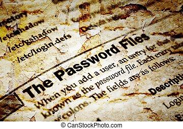 archief, wachtwoord