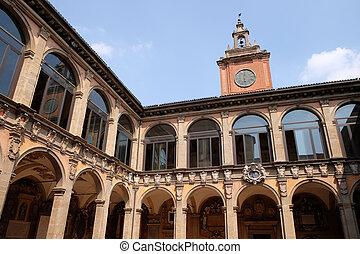 archiginnasio, italia, bologna, esterno, atrio