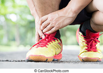 Archillis tendinitis, Injury sustained while exercising and running