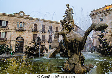 Archimede Square %u2013Syracuse, Sicily, Italy