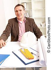 archiotect, fonctionnement, dans, bureau