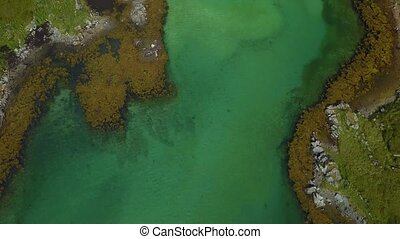 archipel, îles, sur, vol