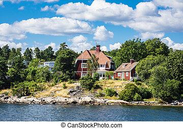 Archipelago on the Baltic Sea coast in Sweden