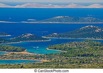 archipiélago, kornati, parque nacional, paraíso