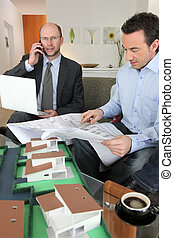 Architect and client