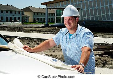 architect, bouwterrein