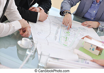 architect business team on meeting