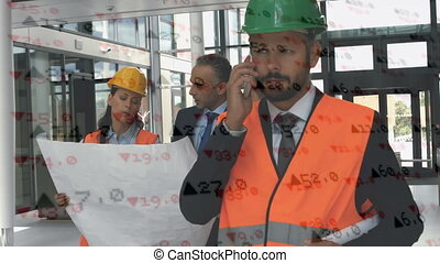 Architect calling on a phone