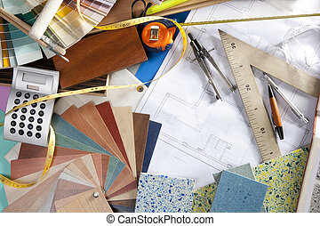 Architect desk interior designer workplace - Architect or...