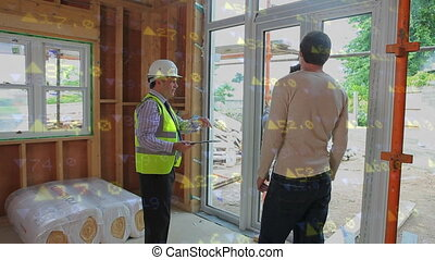 Architect discussing with his clients
