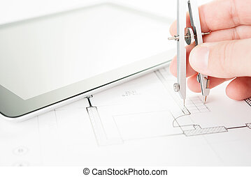 Drafting Equipment On A Draft Stock Photography Search Pictures - Drafting equipment
