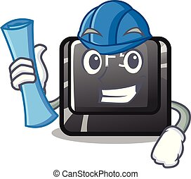 Architect f5 installed on the mascot computer vector illustration