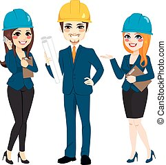 architect, groep, team