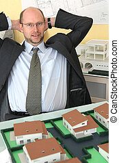 Architect happy with the result of his hard work