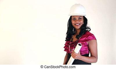 Architect Happy Woman