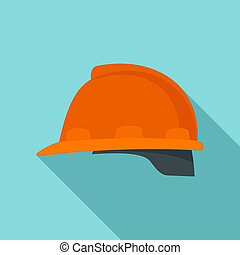 Architect helmet icon, flat style