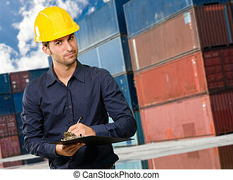Architect Holding Clipboard And Pen