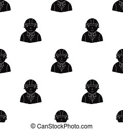 Architect icon in black style isolated on white background. Architect symbol stock vector illustration.