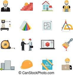 Architect icons set