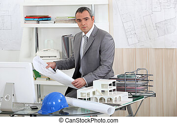 architect in his office