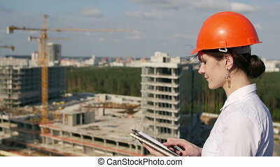 Architect is not satisfied with the result inspect - Woman...