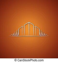 Architect logo over caramel