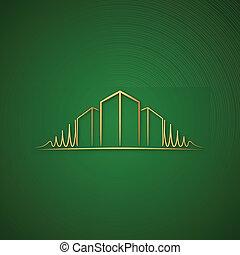 Architect logo over green