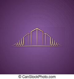 Architect logo over purple