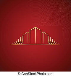 Architect logo over red