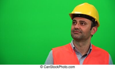 Architect or Construction Worker Watching