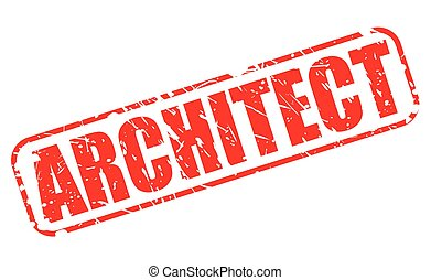 ARCHITECT red stamp text