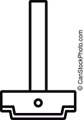 Architect ruler icon, outline style