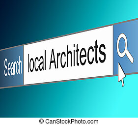 Architect search concept.