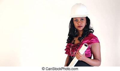 Architect Serious Woman