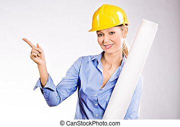 architect - Portrait of a young female architect