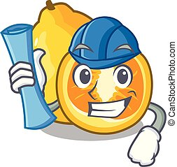 Architect ugli in the mascot fruit basket illustration...