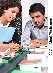 Architect using model to sell homes