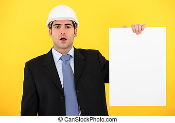 Architect with a blank board