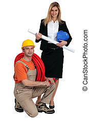Architect with electrician