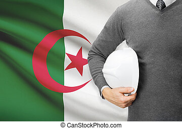 Architect with flag on background - Algeria
