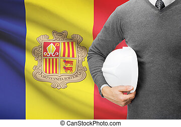Architect with flag on background - Andorra