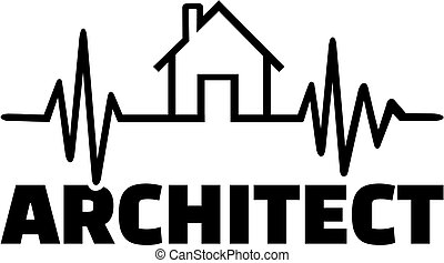 Architect with heartbeat line