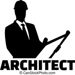 Architect with silhoutte