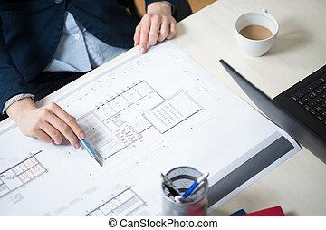 architecte, bureau