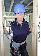 architecte, constructeur, femme