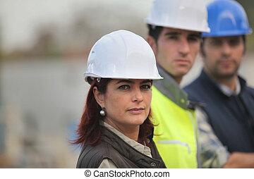 architecte, constructeurs, site