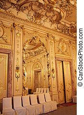 architecte, intérieurs, -, maison, saint, manoir, petersburg, russie, polovtsov