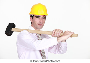architecte, sledgehammer.