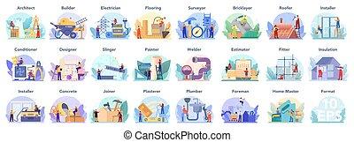 architecting, predios, engenharia, set., construção, profissão