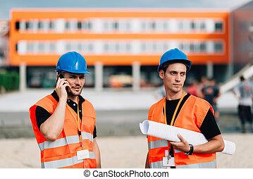 architects, на, строительство, сайт